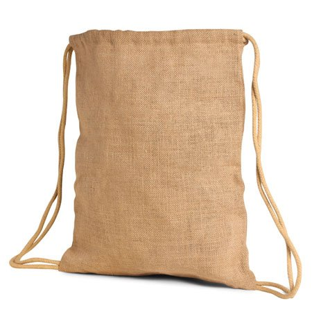 jute drawstring backpack bag