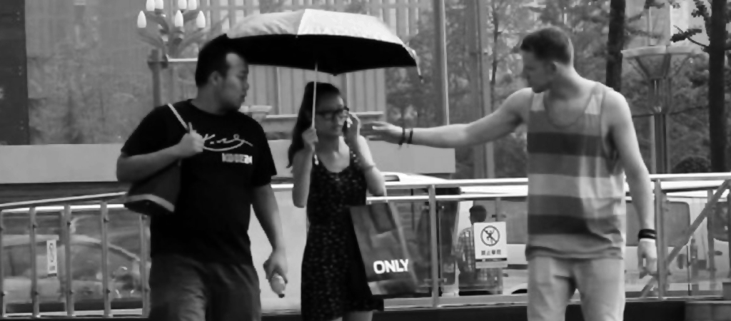 umbrella prank