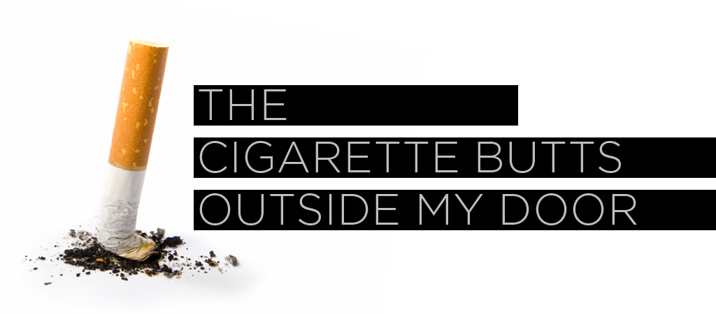 cigarette butts post