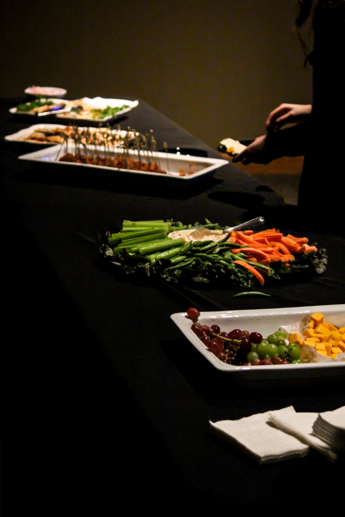 food table at the party color