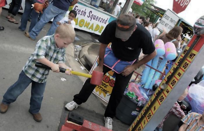 high striker carnival game