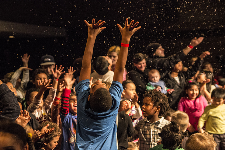 snow at toy give for post